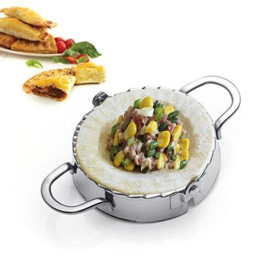 Best Utensils Ravioli Mold Commercial Pierogi Maker Empanada Press Stainless Steel Dumpling Wrappers Press Pastry Dough Cutter Kitchen Aid Baking Tools L-DIA 4 34 inch