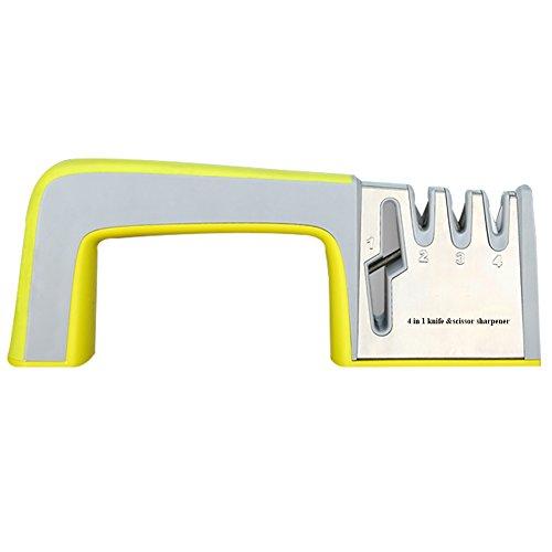 Sunkuka Knife Sharpener and Scissor Sharpening System 4 in 1 DesignProfessional Safe and Easy