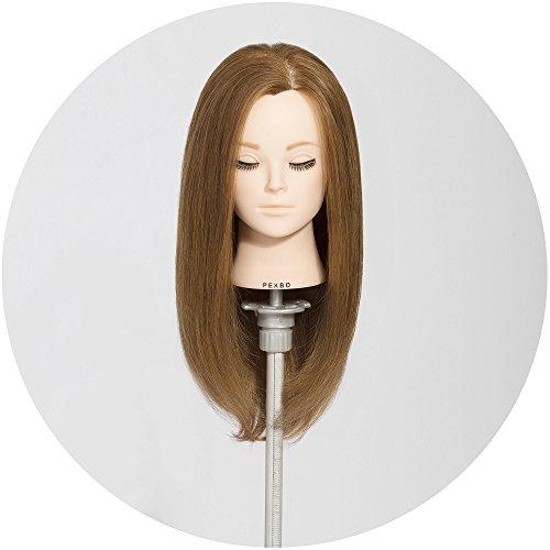 PEKBO 18 100 Real Human Hair Hairdressing Cosmetology Mannequin Manikin Training Head Model