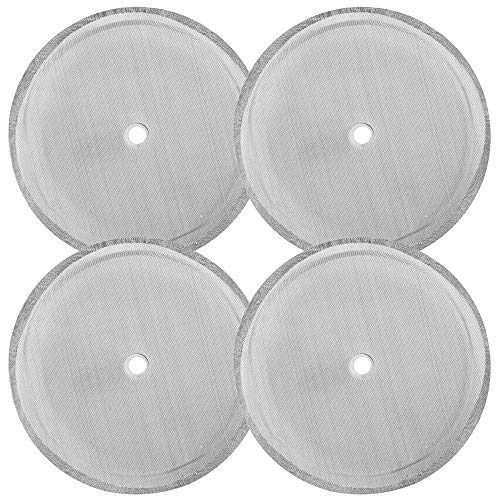 4 Pack French Press Replacement Filter Screen findTop 4 Inch Stainless Steel Mesh Replacements for 1000 ml  34 oz  8 cup French Press