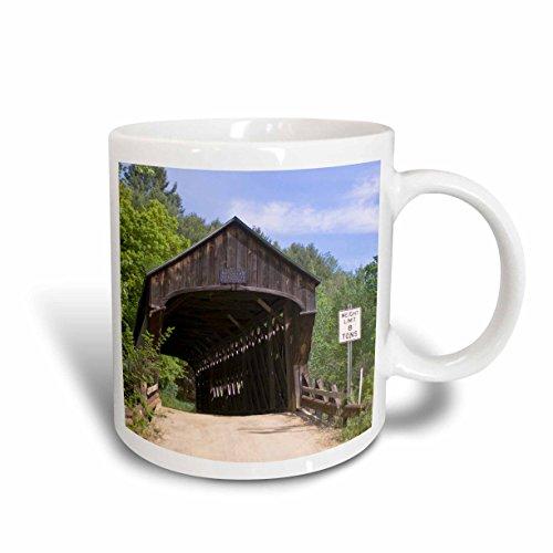 3dRose Worral Vermont Covered Bridge US46 MDE0019 Michael Defreitas Ceramic Mug 15-Ounce