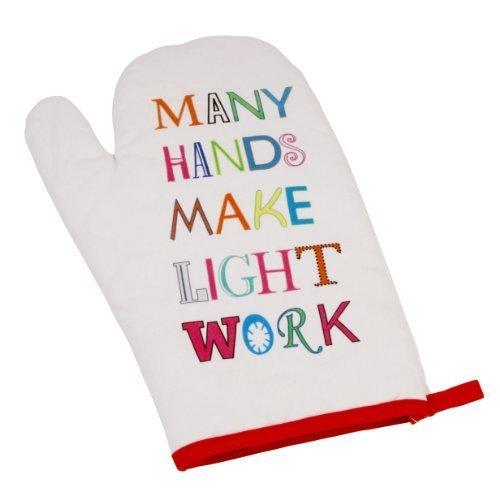 Many Hands Make Light Work - Brighter Side of Life Single Oven Glove Mitt