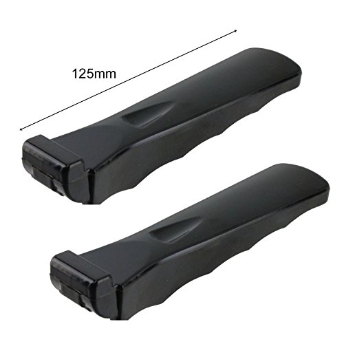 Spares2go Moulded Grip Detachable Handle For DeLonghi Oven Cooker Grill Pan Pack of 2