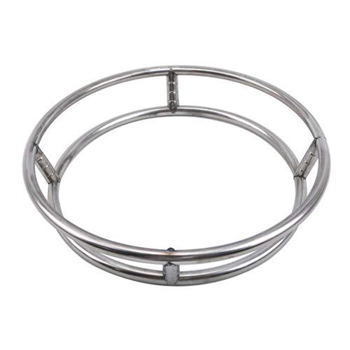 Cngstar Wok Ring Stainless Steel Wok Rack Insulated Pot Mats Cookware Ring Wok Accessories (Size 2)