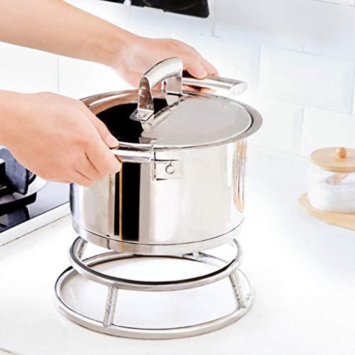 SUJING Wok RingStainless Steel Wok Rack Insulated Pot Mats Cookware RingWok accessories - Kitchen Stainless Steel Insulated Pot Rack Frying Pan Pad Anti-Hot Rack