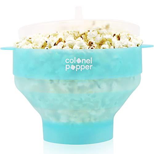 Colonel Popper Popcorn Popper Microwave Popcorn Maker Silicone Air Popper Fresh Mint