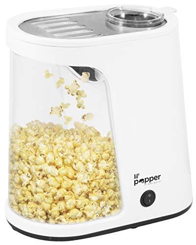 Elite Cuisine EPM-022 Lil Popper Hot Air Popcorn Machine 7 Cups White