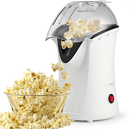 Popcorn Maker Popcorn Machine 1200W Hot Air Popcorn Popper Healthy Machine No Oil Needed White