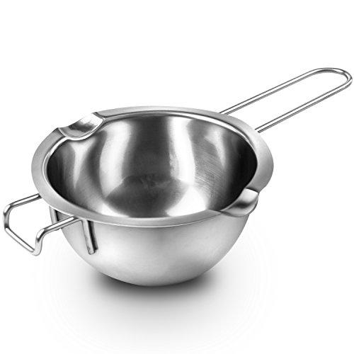 Super Double Boiler Pots Universal Insert Pan188 Stainless Steel 2 Cups Capacity 2 Pour SpoutsChocolate Melting Pots