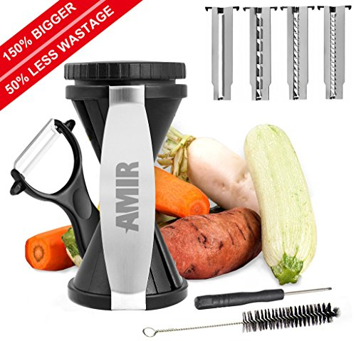 Vegetable Spiralizer, [new Version] Amir® Vegetable Spiral Slicer - Zucchini Pasta Noodle Spaghetti Maker - 150%