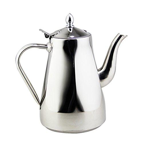 Riwendell Stainless Steel Mirror Finish Tea Kettle Stovetop Tea Pot 21-Quart GS-028215-20L