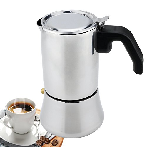 Stainless Steel Stovetop Espresso Maker Coffee Pot Percolator STARRICH 6-Cup Moka Coffeemaker