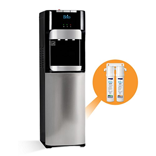Brio Commercial Grade Bottleless Filter Water Cooler Dispenser-3 Temperature Settings Hot Cold Room Water Durable Stainless Steel Construction - ULEnergy Star Approved – Point of Use