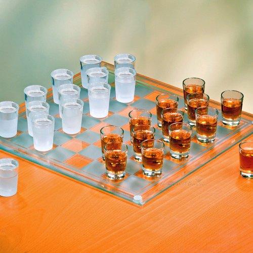 Checkers Shot Glass Bar Game Set