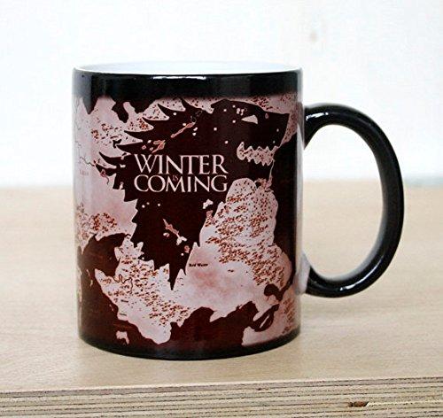 Color Changing Mug Game Of Thrones Mug  Funny Teacup Magic Mugs Magical Mug Ceramic Coffee Mug Funny Message Winter is Coming