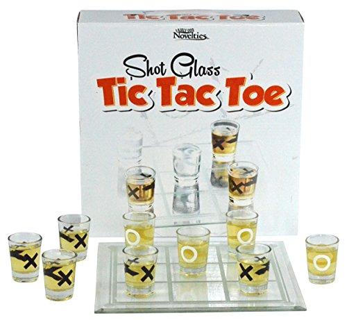 Fairly Odd Novelties Shot Glass Tic Tac Toe Drinking Game Clear