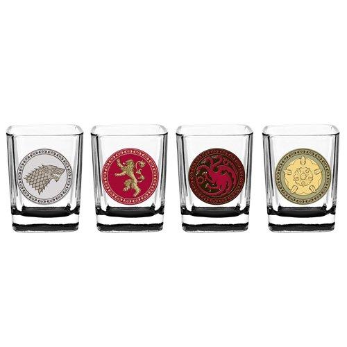 Game of Thrones House Sigil Shot Glass Set Set of 4