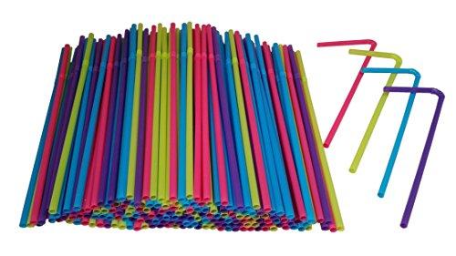 Hanamal Colored Disposable Flexible Drinking Straws 450pcs