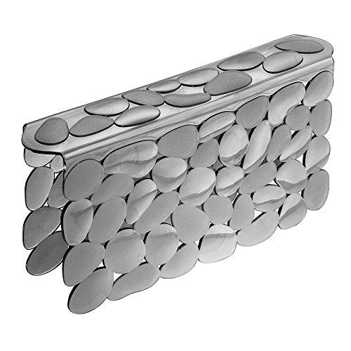 InterDesign Pebblz Sink Saddle – Kitchen Sink Divider Protector - Graphite