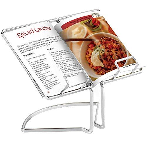 VonShef Wire Cookbook Stand Menu Rack Rest Cooking Book Holder