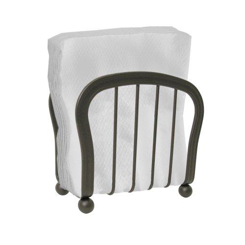 InterDesign York Houseware Napkin Holder for Kitchen Countertops Table - Bronze