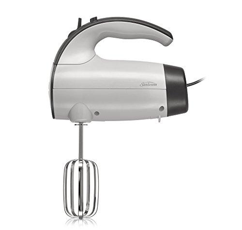 Sunbeam 2525 220-Watt 6-Speed Retractable Cord Hand Mixer WhiteGrey