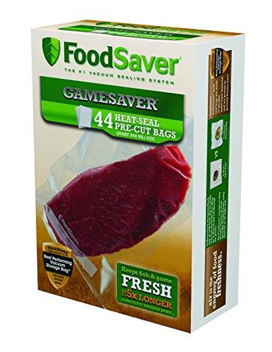 FoodSaver GameSaver 44 Bags - Quart Size 8 x 11