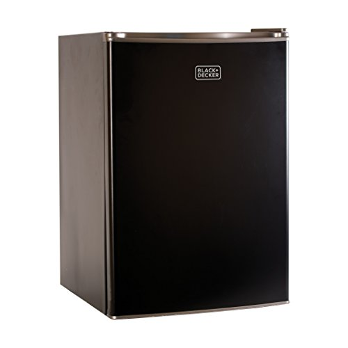 BLACKDECKER BCRK25B Compact Refrigerator Energy Star Single Door Mini Fridge with Freezer 25 Cubic Feet Black