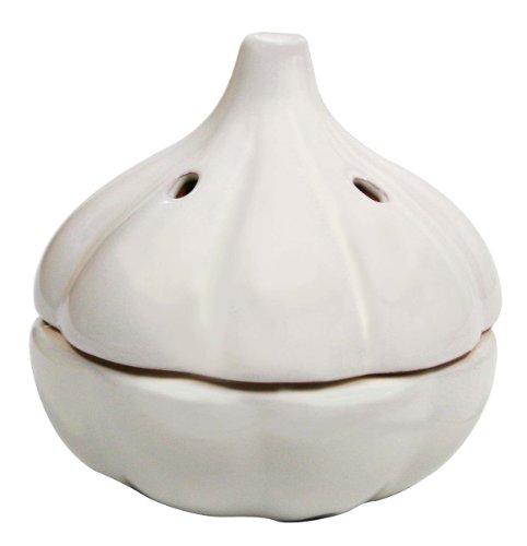 MSC International Terracotta Garlic Keeper White
