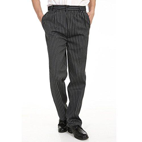 Chef Pant Work Pants Baggy Mens Pant Black S Label26
