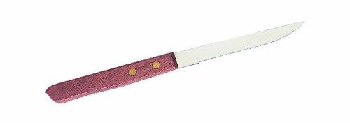 Crestware Economy Pointed Wood Handle Steak Knife 4125-Inch Blade