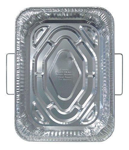 Durable Packaging Disposable Aluminum Rectangular Roasting Pan with Handles18 x 13-516 x 2-58 deep Pack of 50