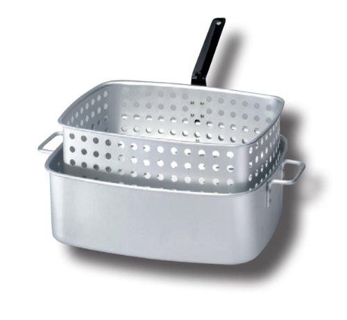 King Kooker KK6 15-Quart Aluminum Rectangular Fry Pan and Basket