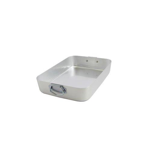 Ottinetti Famiglia Aluminum Rectangular Roasting Pan with Lid Small118 x 79 Silver
