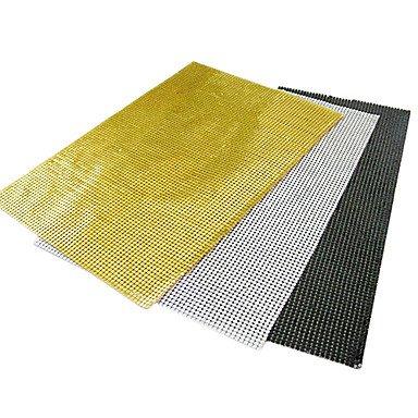 WWQY Black  White  Yellow Aluminum Rectangular Placemats  black
