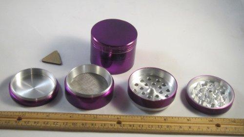 "Four Piece New Style 2 1/4"" Herb, Spice Or Tobacco Pollen Grinder -purple"