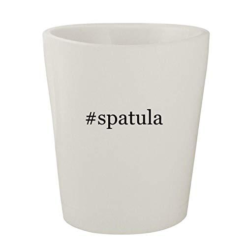 spatula - White Hashtag Ceramic 15oz Shot Glass