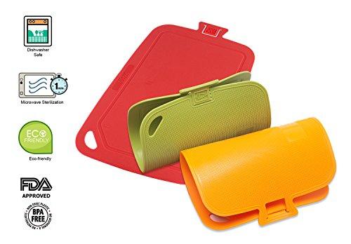 Antimicrobial Cutting Boards Dishwasher Safe   Large 13x10 Flexible Cutting Mats   1 Min Microwave Full Sterilization