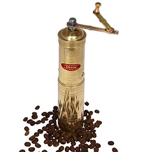 9 Handmade Manual Brass Coffee Mill Grinder Sozen Portable Conical Burr Coffee Mill Portable Hand Crank Coffee Grinder Turkish Coffee Grinder