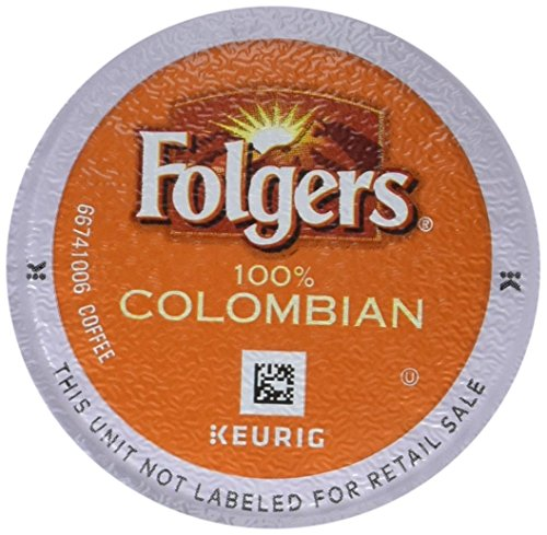 Folgers 100 Colombian Coffee Medium-Dark Roast K-Cup Pods for Keurig K-Cup Brewers 12-Count Pack of 6