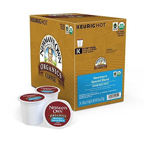 Newmans Own Organics Keurig Single-Serve K-Cup Pods Special Blend Medium Roast Coffee 24 Count