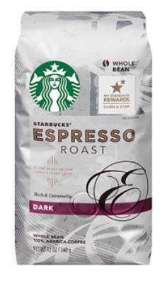 2 Pack Starbucks Dark Espresso Roast Whole Bean Coffee 12 oz