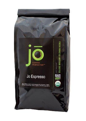 JO ESPRESSO 2 lb Medium Dark Roast Whole Bean Organic Arabica Espresso Coffee USDA Certified Organic Espresso NON-GMO Fair Trade Certified Gourmet Espresso Beans from the Jo Coffee Collection