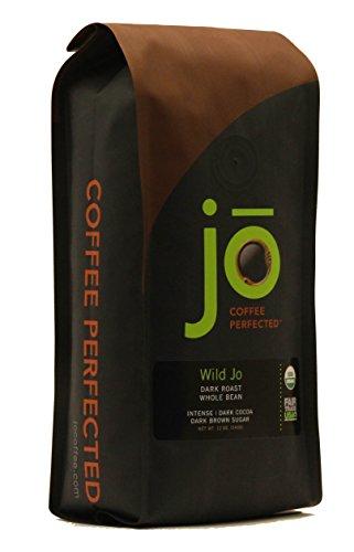 WILD JO 12 oz Dark French Roast Organic Coffee Whole Bean Coffee Bold Strong Rich Wicked Good Coffee Great Brewed or Espresso USDA Certified Fair Trade Organic 100 Arabica Coffee NON-GMO