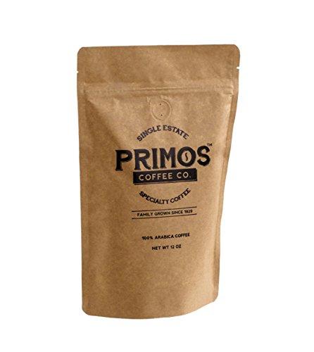 French Press Specialty Coffee Coarsely Ground Primos Coffee Co Dark Roast 12 Oz