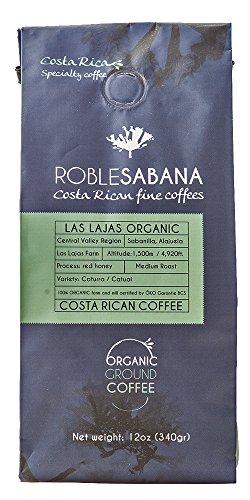Specialty Coffee Roblesabana Costa Rica Microlot Las Lajas Organic Red Honey Light to Medium Roast 12oz ground