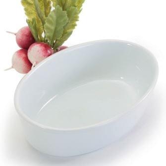 BIA Cordon Bleu White Porcelain 7 inch Oval Baking Dish - Set of 2 - 16 ounce