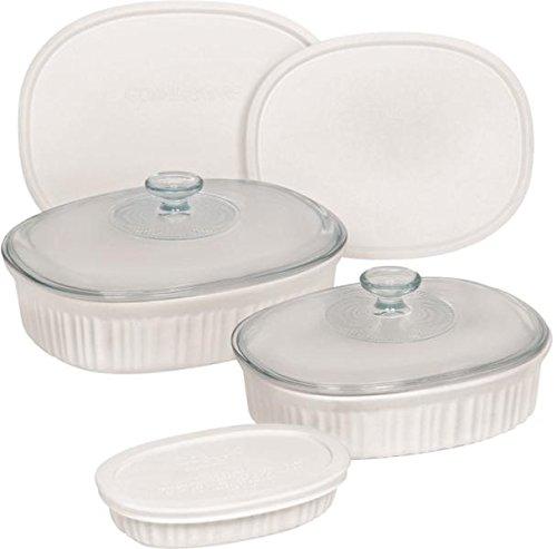 Baking Dish Set Fr White Oval