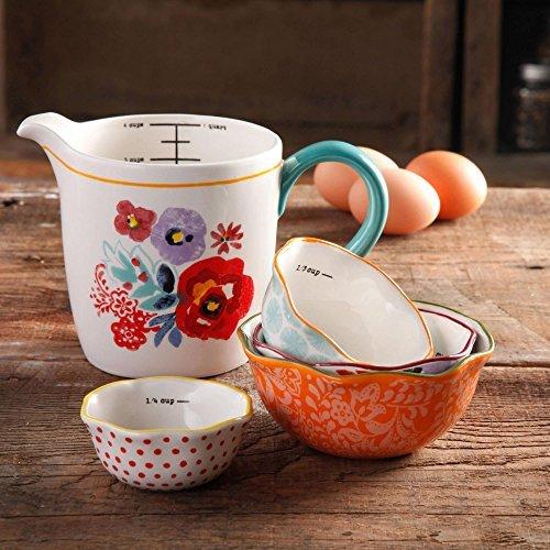 The Pioneer Woman Flea Market 5-Piece Prep Set 4-Piece Measuring Bowls with 4-cup Measuring Cup