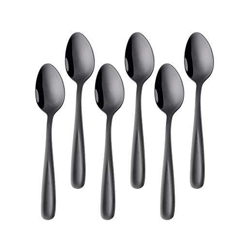 Bisda Espreeso Teaspoon Stainless Steel 18 10 Coffee SpoonBlack